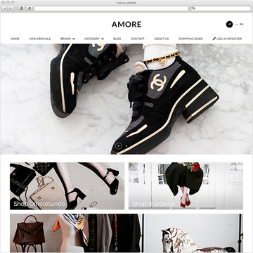 AMOREオンラインショップサイト